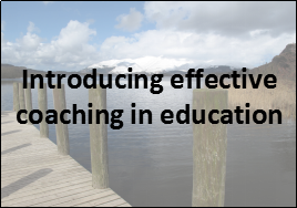 coaching in education introducing effective coaching in education